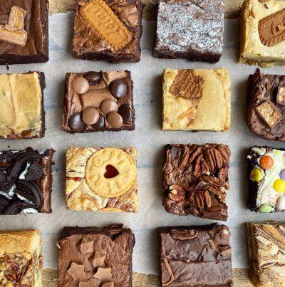 16 brownie and blondie flavours